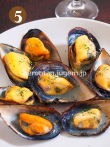 ムール貝のグリル焼き