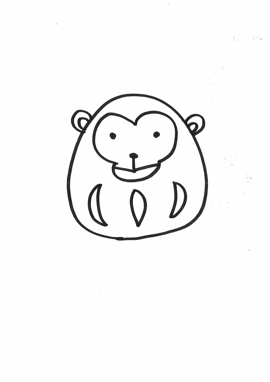 印刷屋が教えるよ!2016年 猿のイラスト年賀状の書き方【簡単かわいい