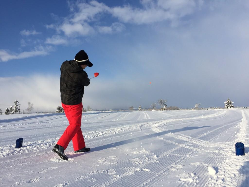 雪中ゴルフ04