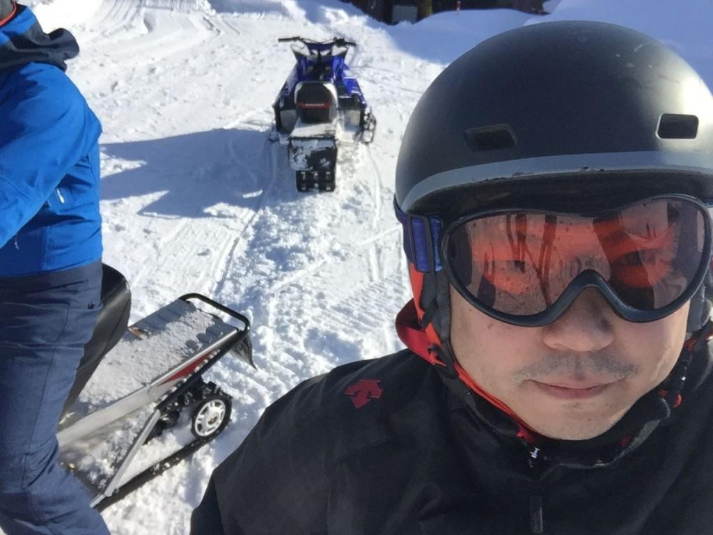 雪中ゴルフ08